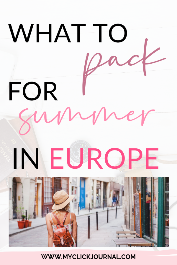 summer packlist to europe pinterest