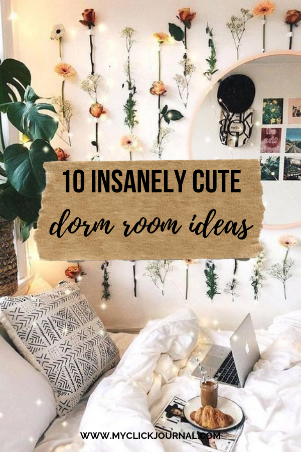 Here are 10 extremely cute dorm room ideas to steal for freshman year! #dormroomdecor #dormroomideas #dormhacks