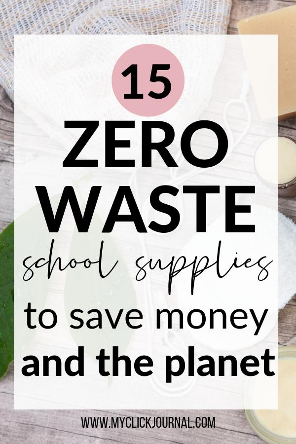 zero waste school supplies