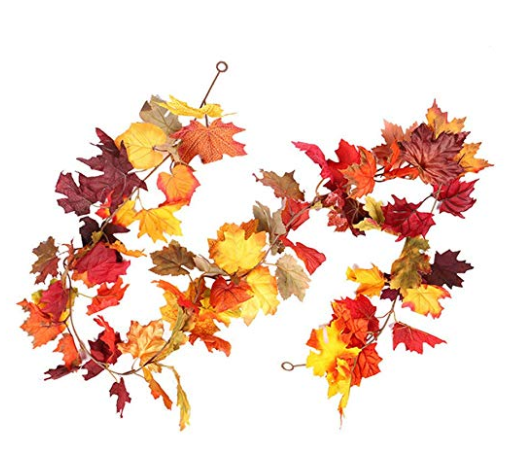 leaf garland fall dorm decor ideas