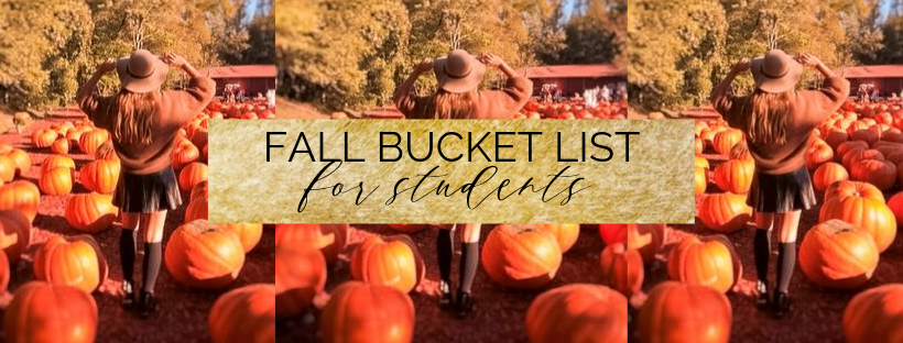 fall bucket list for students