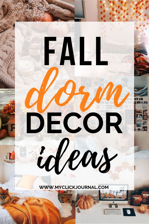 fall dorm decor for college students