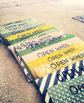 gift ideas for students- open when letters