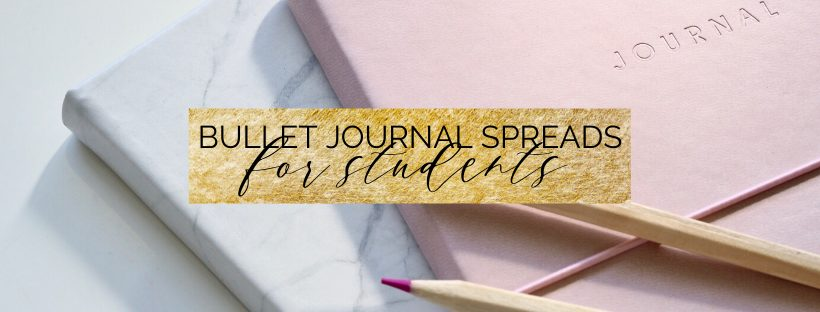 10 Bullet journal spreads for students! These spreads, overviews, planners and trackers are perfect for any high school or college students who want to up their productivity game and be organized! #bujo #bulletjournal