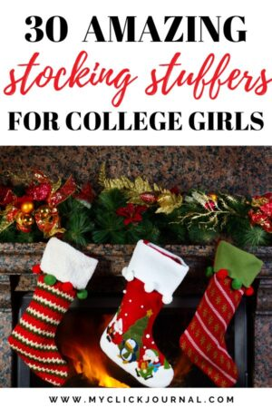 30 amazing stocking stuffers for college girls that they will love this Christmas 2019! Gift ideas for college students 2019