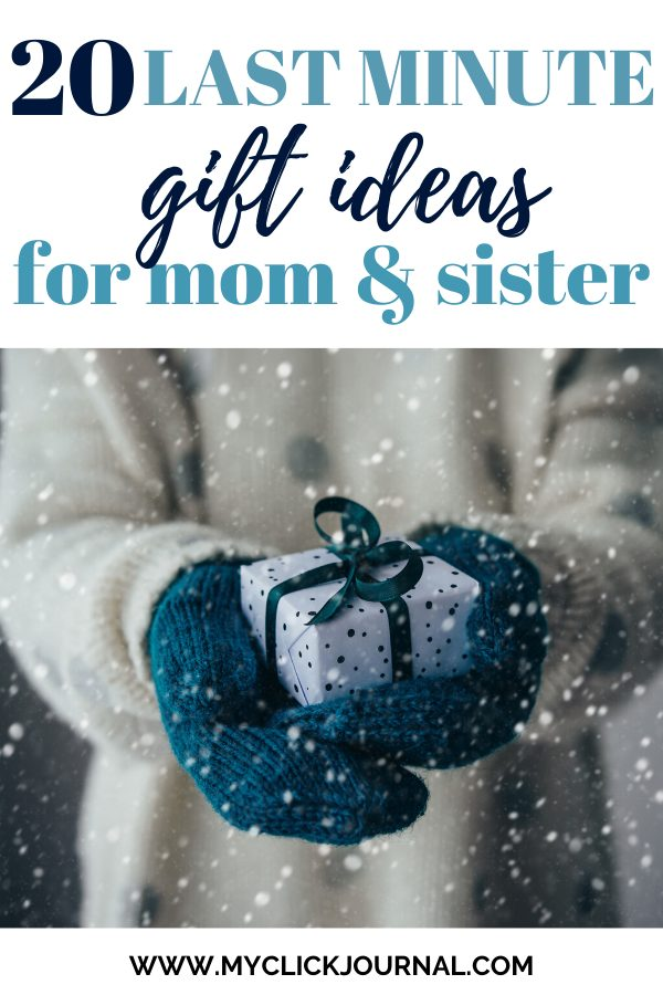 20 last minute gift ideas for mom and sisters| gift guide for the family