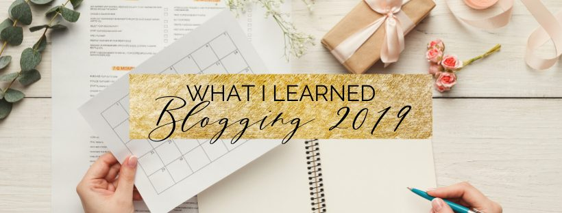 What I learned Blogging in 2019