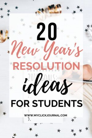 20 new year's resolution ideas for students for 2020