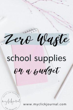 zero-waste school supplies