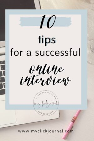 10 tips for a successful online interview | myclickjournal