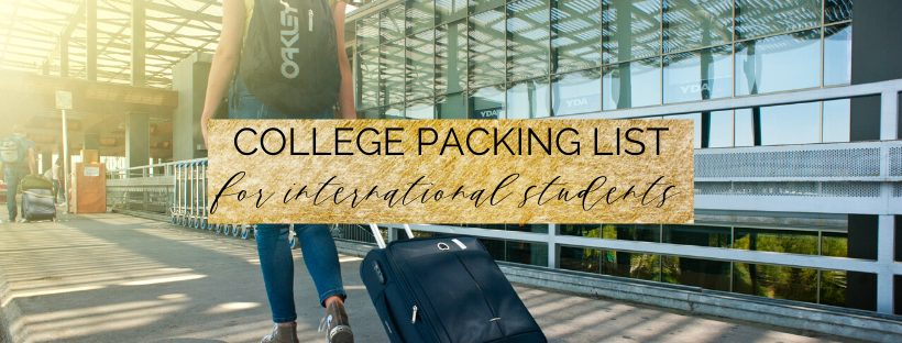 College Packing List for International Students