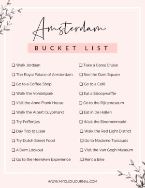 the ultimate amsterdam bucket list printable