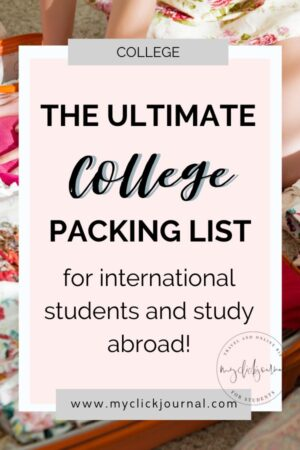 The Ultimate College Packing List for International Students