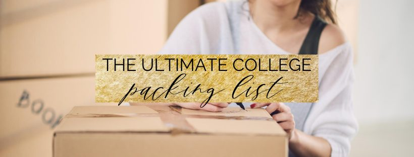 college packing list cover