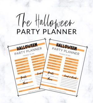 halloween party planner free printable