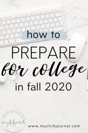 how to prepare for college in fall 2020