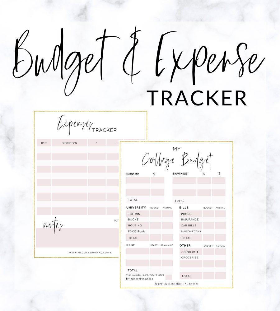 budget tracker freebie