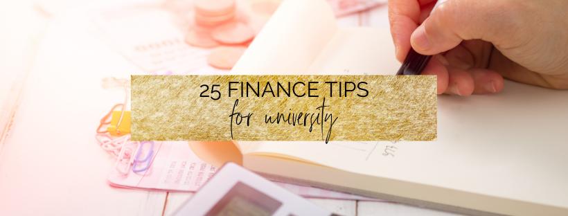 25 Finance Tips for University