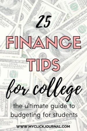 25 Finance Tips for University | myclickjournal