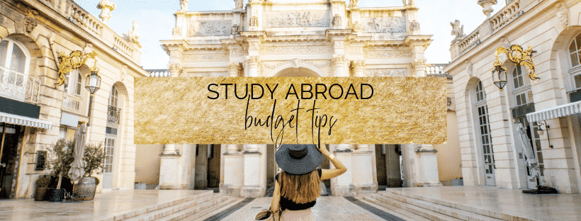 study abroad budget tips graphic