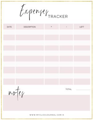 budget expense tracker