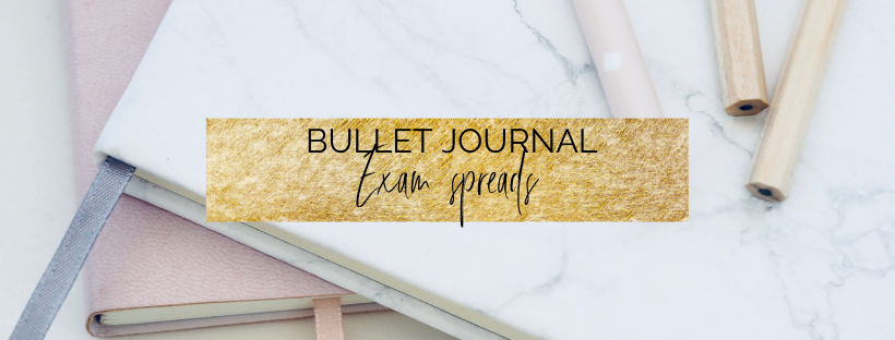 Bullet journal exam spreads
