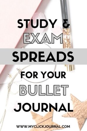 the best bullet journal exam spreads for college | myclickjournal