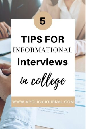 5 reasons you should conduct informational interviews in college   myclickjournal