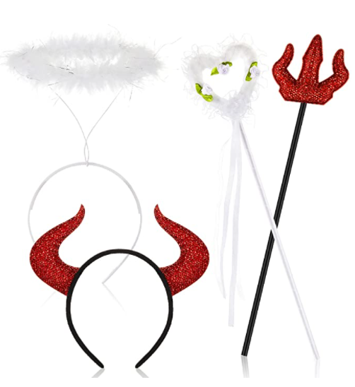 angel and devil costumes for best friends
