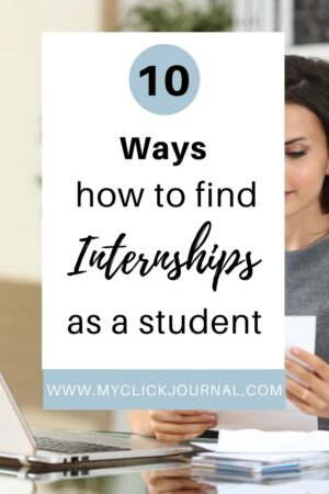 10 ways how to find internships as a student